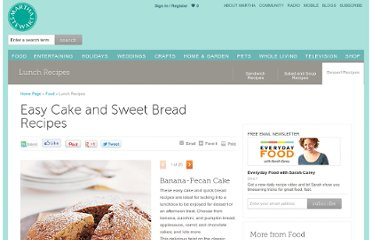 http://www.marthastewart.com/853310/easy-cake-and-sweet-bread-recipes#/283264