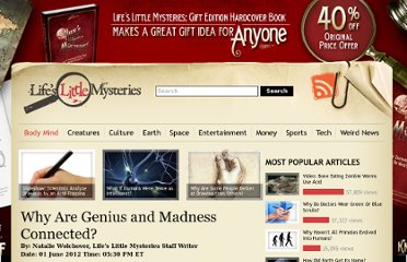 http://www.lifeslittlemysteries.com/2522-genius-madness-connection.html