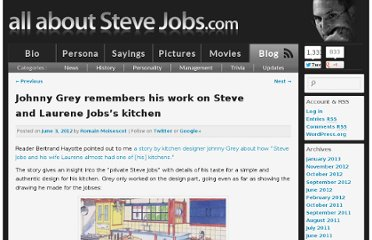 http://allaboutstevejobs.com/blog/2012/06/03/johnny-grey-remembers-his-work-on-steve-and-laurene-jobss-kitchen/