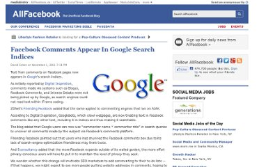 http://allfacebook.com/facebook-comments-appear-in-google-search-indices_b65279