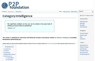 http://p2pfoundation.net/Category:Intelligence