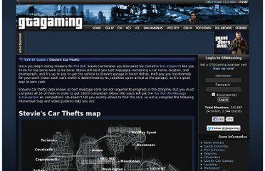 http://www.gtagaming.com/gtaiv/guide/stevie-car-thefts
