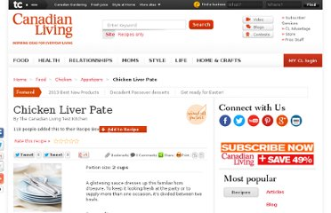 http://www.canadianliving.com/food/chicken_liver_pate.php