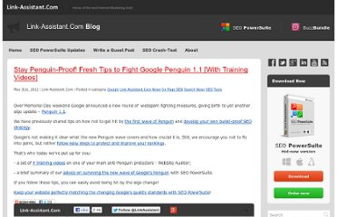 http://www.link-assistant.com/blog/stay-penguin-proof-fresh-tips-to-fight-google-penguin-1-1-with-training-videos/