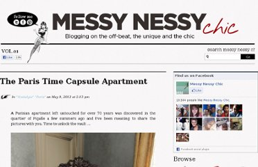http://www.messynessychic.com/2012/05/09/the-paris-time-capsule-apartment/