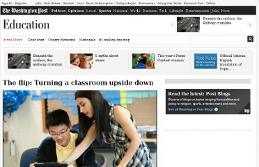 http://www.washingtonpost.com/local/education/the-flip-turning-a-classroom-upside-down/2012/06/03/gJQAYk55BV_story.html