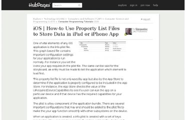 http://klanguedoc.hubpages.com/hub/iOS-How-to-Use-Property-List-Files-to-Store-Data-in-iPad-or-iPhone-App