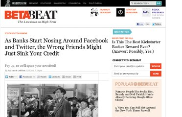 http://betabeat.com/2011/12/as-banks-start-nosing-around-facebook-and-twitter-the-wrong-friends-might-just-sink-your-credit/