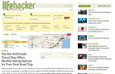 http://lifehacker.com/5915400/the-eat-well-guide-travel-map-offers-healthy-eating-options-for-your-next-road-trip