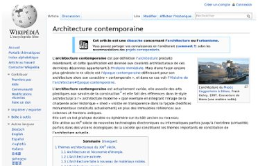 http://fr.wikipedia.org/wiki/Architecture_contemporaine#Courants_dans_l.27architecture_contemporaine