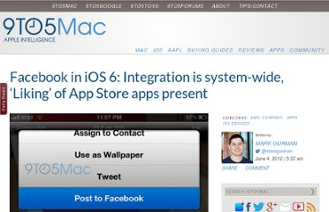 http://9to5mac.com/2012/06/04/facebook-in-ios-6-integration-is-system-wide-liking-of-app-store-apps-present/
