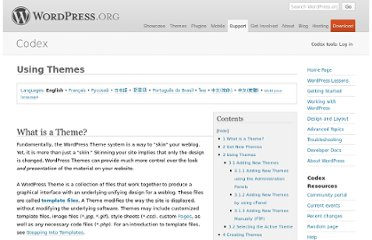 http://codex.wordpress.org/Using_Themes#Get_New_Themes