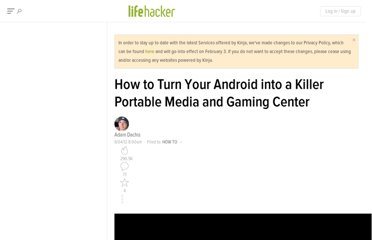 http://lifehacker.com/5915083/how-to-turn-your-android-into-an-awesome-portable-media-and-gaming-center