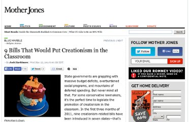 http://www.motherjones.com/blue-marble/2011/03/9-bills-creationism-classroom