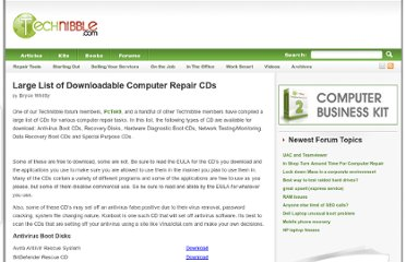 http://www.technibble.com/large-list-of-useful-computer-repair-cds/