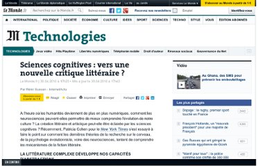 http://abonnes.lemonde.fr/technologies/article/2010/04/30/humanites-et-sciences-cognitives-une-nouvelle-critique-litteraire_1345421_651865.html