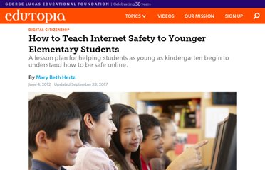 http://www.edutopia.org/blog/internet-safety-younger-elementary-mary-beth-hertz