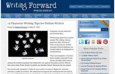 http://www.writingforward.com/writing-tips/12-character-writing-tips-for-fiction-writers