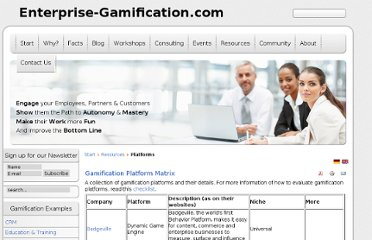 http://enterprise-gamification.com/index.php/en/resources/platforms