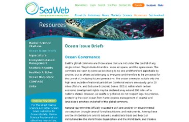 http://www.seaweb.org/resources/briefings/governance.php