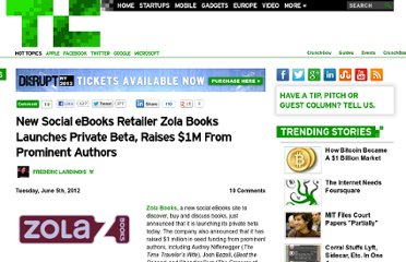 http://techcrunch.com/2012/06/05/zola-books-announces-new-social-ebooks-site-raises-1m-from-prominent-authors/