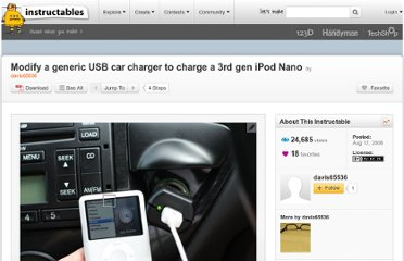 http://www.instructables.com/id/Modify-a-generic-USB-car-charger-to-charge-a-3rd-g/