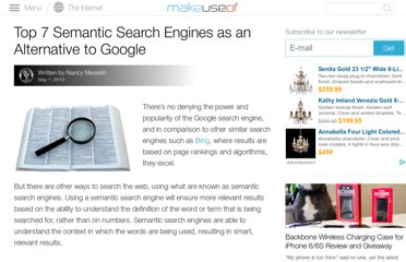 http://www.makeuseof.com/tag/top-7-semantic-search-engines-alternative-google-search/