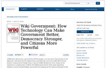 http://www.brookings.edu/research/books/2009/wikigovernment