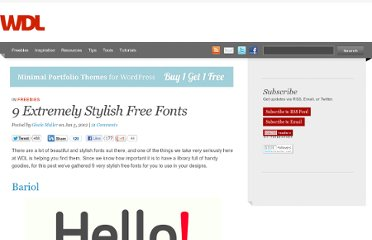 http://webdesignledger.com/freebies/9-extremely-stylish-free-fonts