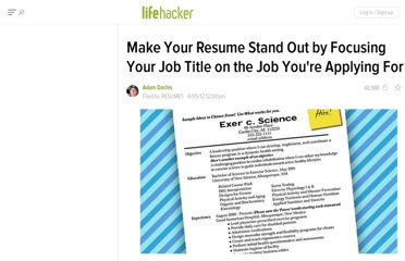 http://lifehacker.com/5915704/make-your-resume-stand-out-by-focusing-your-job-title-on-the-job-youre-applying-for