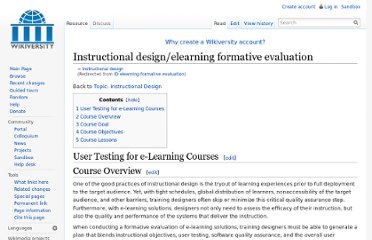 http://en.wikiversity.org/wiki/ID_elearning_formative_evaluation