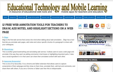 http://www.educatorstechnology.com/2012/06/13-free-web-annotation-tools-teachers.html