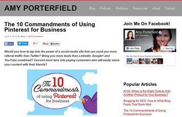 http://www.amyporterfield.com/2012/06/the-10-commandments-of-using-pinterest-for-business/