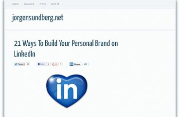http://jorgensundberg.net/21-ways-build-your-personal-brand-linkedin/