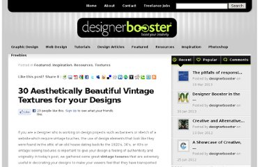 http://www.designerbooster.com/featured/30-aesthetically-beautiful-vintage-textures-designs/