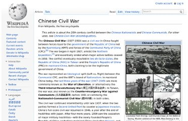 http://en.wikipedia.org/wiki/Chinese_Civil_War