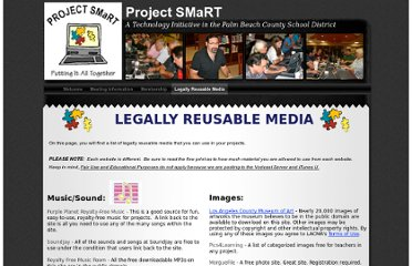 http://palmbeachschooltalk.com/projectsmart/Project_SMaRT/Legally_Reusable_Media.html