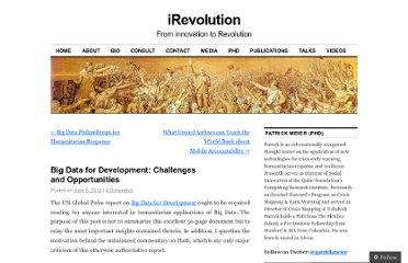 http://irevolution.net/2012/06/05/big-data-for-development/