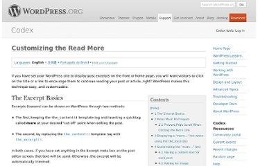 http://codex.wordpress.org/Customizing_the_Read_More