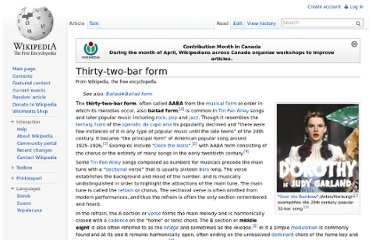 http://en.wikipedia.org/wiki/Thirty-two-bar_form