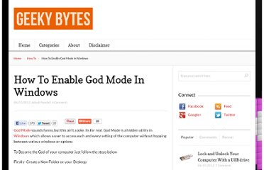 http://www.geekybytes.org/how-to-enable-god-mode-in-windows/