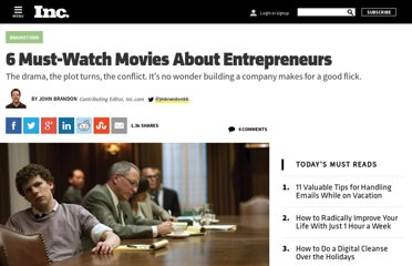 http://www.inc.com/john-brandon/6-must-watch-movies-about-entrepreneurs.html