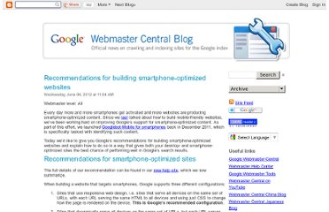 http://googlewebmastercentral.blogspot.com/2012/06/recommendations-for-building-smartphone.html