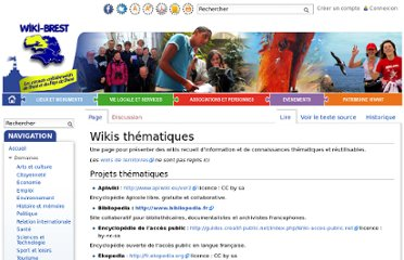http://www.wiki-brest.net/index.php/Wikis_th%C3%A9matiques