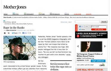 http://www.motherjones.com/mojo/2011/07/invisible-women-military-secret-gender-problem