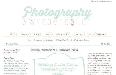 http://photographyawesomesauce.com/20-things-i-wish-i-knew-about-photography-posing/