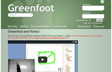 http://www.greenfoot.org/doc/kinect#purchase