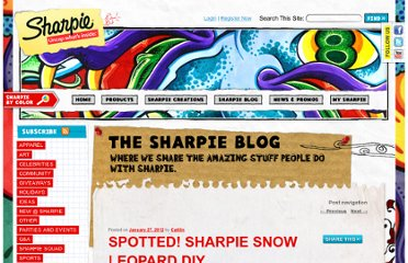 http://blog.sharpie.com/2012/01/spotted-sharpie-snow-leopard-diy/