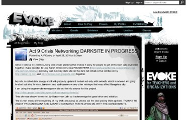 http://www.urgentevoke.com/profiles/blogs/act-9-crisis-networking