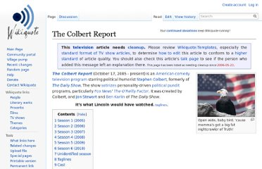 https://en.wikiquote.org/wiki/The_Colbert_Report